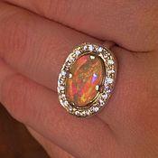 """Кольца ручной работы. Ярмарка Мастеров - ручная работа """"Элеон"""" кольцо с опалом Эфиопии. Handmade."""