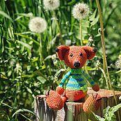Куклы и игрушки ручной работы. Ярмарка Мастеров - ручная работа Лис, такой смышленый лис. Вязаная игрушка. Handmade.