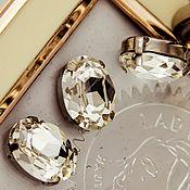 Материалы для творчества handmade. Livemaster - original item Crystals in frames Premium Oval 18h13 Crystal White. 4120. Handmade.