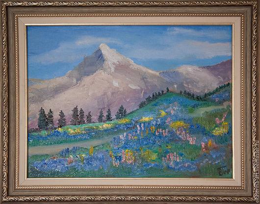 Пейзаж ручной работы. Ярмарка Мастеров - ручная работа. Купить Горная долина. Handmade. Долина, горы, горная долина, высота