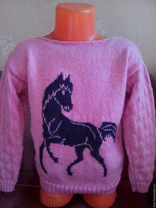 """Кофты и свитера ручной работы. Ярмарка Мастеров - ручная работа. Купить Детский пуловер """"Лошадка"""". Handmade. Пуловер"""