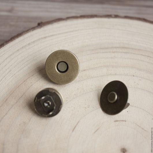 Шитье ручной работы. Ярмарка Мастеров - ручная работа. Купить Магнитная кнопка, антик, 2 размера. Handmade. Бежевый