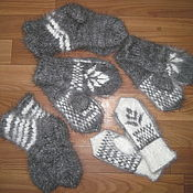 Аксессуары ручной работы. Ярмарка Мастеров - ручная работа Детские пуховые варежки и носки. Handmade.