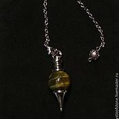 Фен-шуй и эзотерика handmade. Livemaster - original item Tiger`s eye 40mm Gemstone Ball Pendulum Chakra Pendant. Handmade.