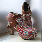 Обувь ручной работы handmade. Livemaster - original item Painting on shoes. Ankle Boots