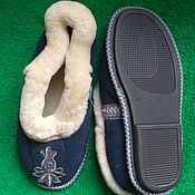 Обувь ручной работы handmade. Livemaster - original item Chuvaki sheepskin with hard soles. Handmade.