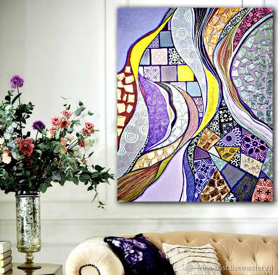 Интерьерная картина абстракция в восточном стиле Марокко, Картины, Санкт-Петербург,  Фото №1