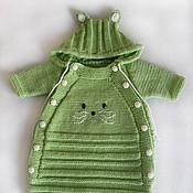 Работы для детей, ручной работы. Ярмарка Мастеров - ручная работа Вязаный конверт для новорожденного №5. Handmade.