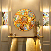 Картины и панно handmade. Livemaster - original item Bulk gold pattern Kaleidoscope. The evening sun. Handmade.