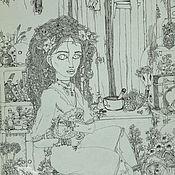 Картины и панно ручной работы. Ярмарка Мастеров - ручная работа Ведьма.. Handmade.