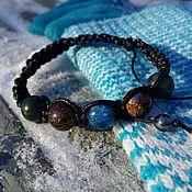 Украшения handmade. Livemaster - original item Shamballa bracelet with kyanite, Bronzit, jade