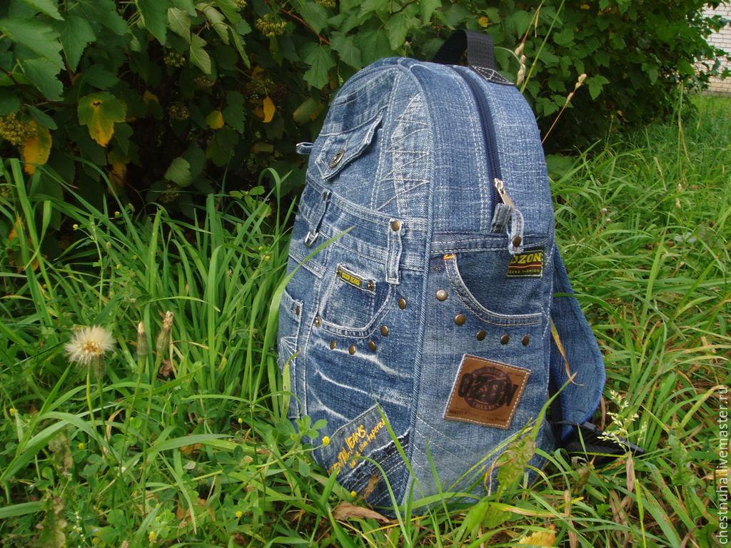 фото рюкзаков из джинса своими руками сшить благородная, классическая внешность