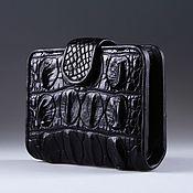 Сумки и аксессуары handmade. Livemaster - original item Wallet female crocodile leather with a strap and coin holder IMA0033B2. Handmade.