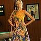 """Платья ручной работы. Ярмарка Мастеров - ручная работа. Купить Валяное платье """"Цветущая горчица """". Handmade. Легкое платье"""