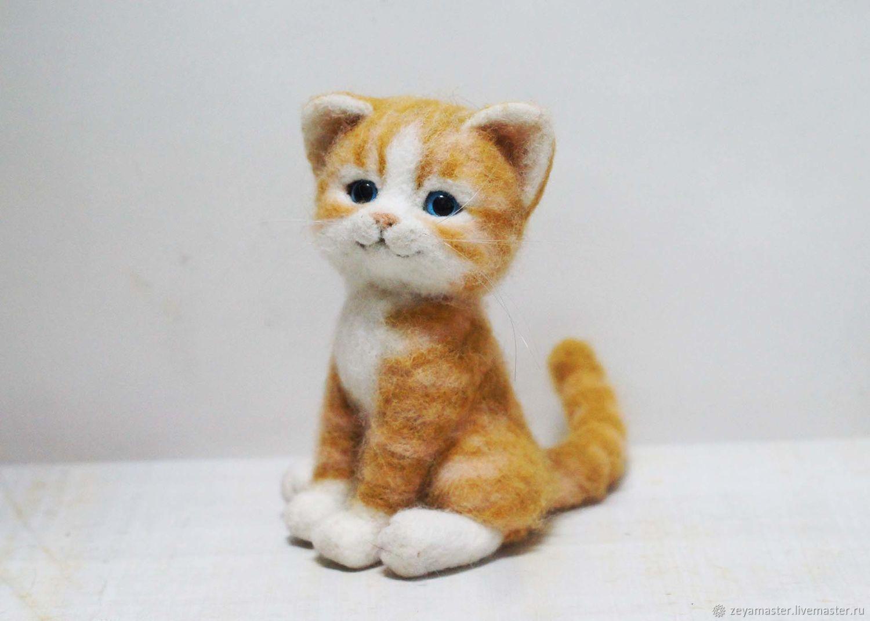 Валяный котенок картинки
