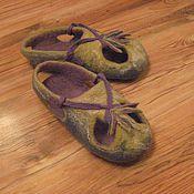 """Обувь ручной работы. Ярмарка Мастеров - ручная работа Тапочки из шерсти """"Подружкины"""". Handmade."""