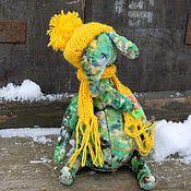 Куклы и игрушки ручной работы. Ярмарка Мастеров - ручная работа Слон тедди Тошка. Handmade.