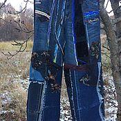 Джинсы ручной работы. Ярмарка Мастеров - ручная работа Женские джинсы в стиле бохо Хиппи. Handmade.