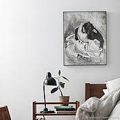 Картины и панно handmade. Livemaster - original item Love dance, oil painting on canvas, wedding gift. Handmade.