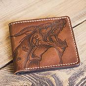 Сумки и аксессуары handmade. Livemaster - original item Wallet leather pyrography