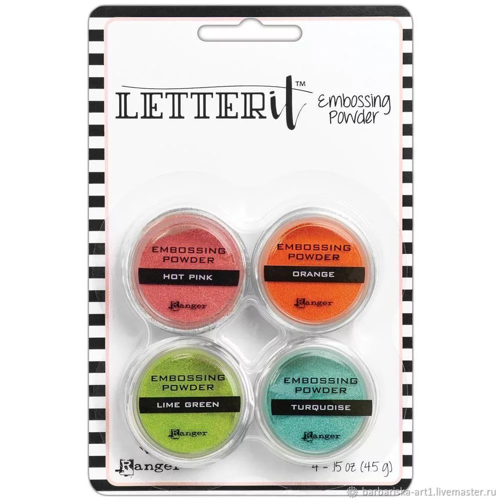 Набор пудры для эмбоссинга Letter It Embossing Powder от Ranger, Эмбоссинг, Смоленск,  Фото №1