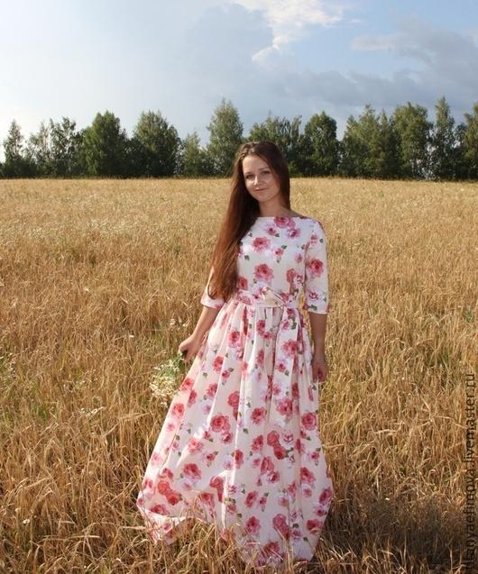 Платья ручной работы. Ярмарка Мастеров - ручная работа. Купить Платье в пол Букет роз. Handmade. Платье, нарядное платье