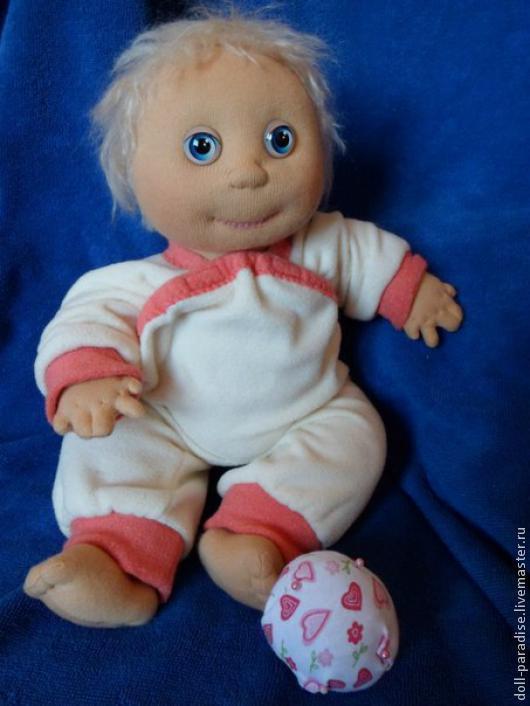 """Человечки ручной работы. Ярмарка Мастеров - ручная работа. Купить Кукла текстильная """"Степка-растрепка"""". Handmade. Бежевый"""