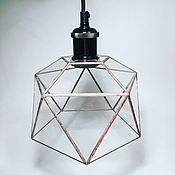 Для дома и интерьера handmade. Livemaster - original item Loft stained glass lamp icosahedron. Handmade.