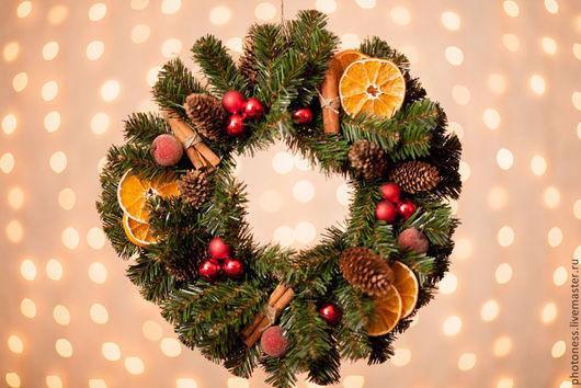 Новый год 2017 ручной работы. Ярмарка Мастеров - ручная работа. Купить Новогодний венок Gingle Bells. Handmade. Подарок, рождество