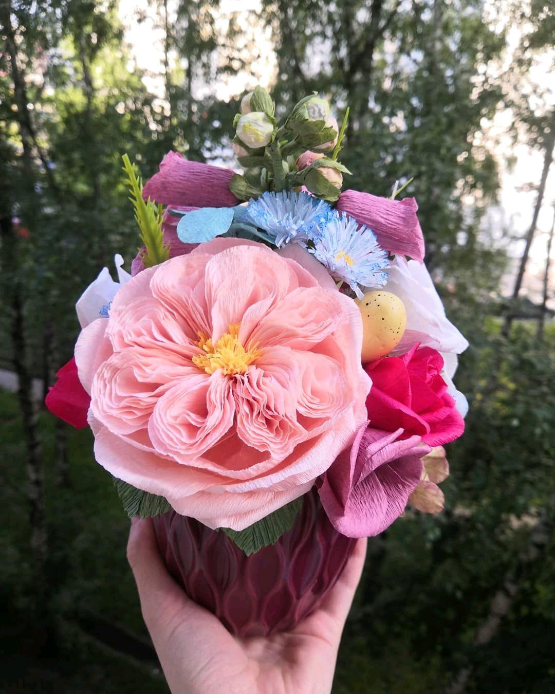 Цветы из гофрированной бумаги, Цветы, Москва,  Фото №1