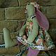 Куклы Тильды ручной работы. Крольчиха Элиза. ВОЛШЕБНЫЙ ЛОСКУТОК (Zino). Ярмарка Мастеров. Крольчиха, натуральные материалы