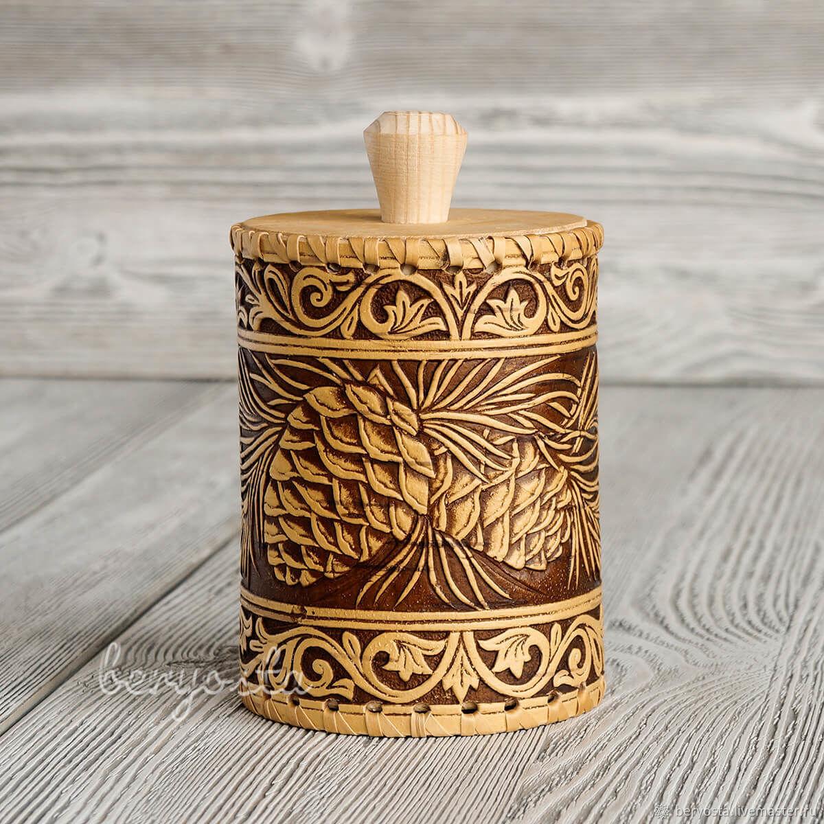 Birch tuesok 'Cone' 8h11 cm. Jar from clay, Jars, Novosibirsk,  Фото №1