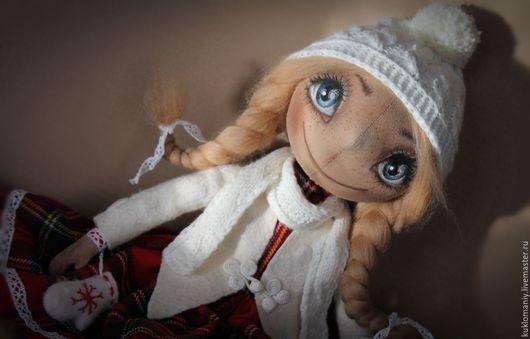 """Куклы тыквоголовки ручной работы. Ярмарка Мастеров - ручная работа. Купить Текстильная кукла тыквоголовка  """"Герда"""". Handmade. Комбинированный"""