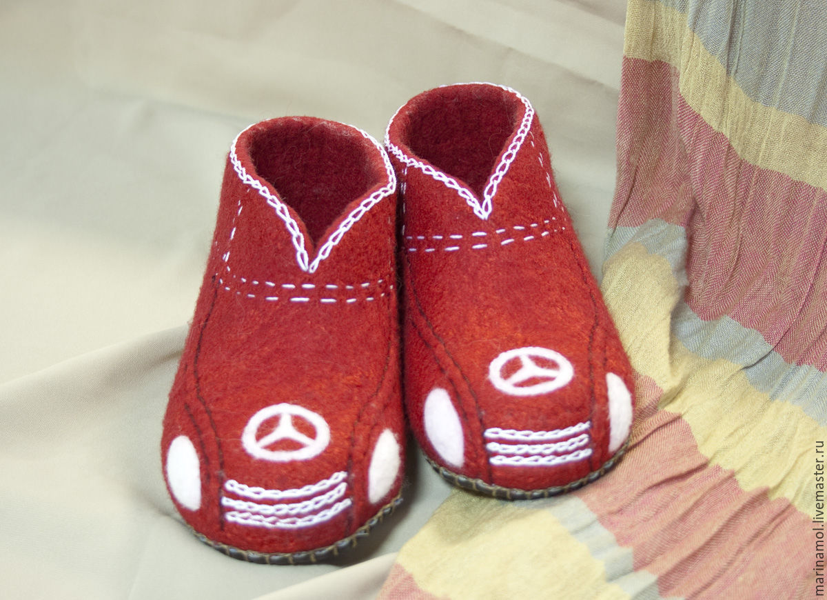 Children's felted Slippers 'Mersedesi', Slippers, Miass,  Фото №1