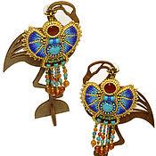 Earrings handmade. Livemaster - original item Chandelier earrings in Egyptian style. Handmade.