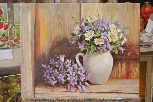 """Картины цветов ручной работы. Ярмарка Мастеров - ручная работа. Купить """"Букетики"""". Handmade. Комбинированный, букет цветов, цветочки"""