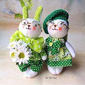 Подарки к праздникам handmade. Livemaster - original item Sweet baby rabbits. a wedding gift. Handmade.