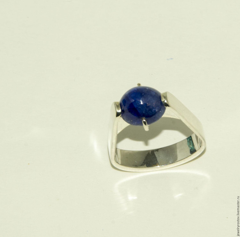 ручной работы. Ярмарка Мастеров - ручная работа. Купить Серебряное кольцо с сапфиром. Handmade. Кольцо, кольцо с камнем, кольцо из серебра