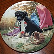 Винтаж handmade. Livemaster - original item Fun plates series