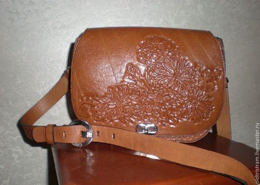 Женские сумки ручной работы. Ярмарка Мастеров - ручная работа. Купить Женская сумочка. Handmade. Коричневый, кожаный цветок