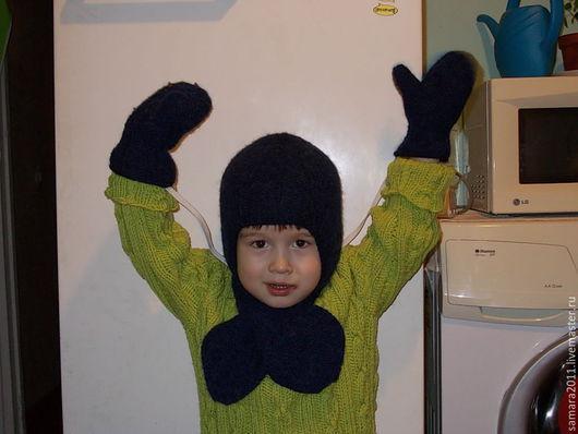 Детские аксессуары ручной работы. Ярмарка Мастеров - ручная работа. Купить Шапка-шлем и К. Handmade. Шапка, шарфик, зима