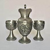 Винтаж handmade. Livemaster - original item A wine set of pewter collection Masterpieces. Handmade.