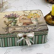 Для дома и интерьера handmade. Livemaster - original item Jewelry box Provence retro style vintage. Handmade.