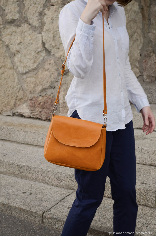 Leather women's shoulder bag, Classic Bag, St. Petersburg,  Фото №1