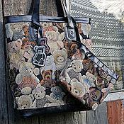 Сумки и аксессуары handmade. Livemaster - original item A big pack of tapestry and leather