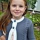 Одежда для девочек, ручной работы. Вязаный костюм для школьницы. Раиса вязание на заказ. Интернет-магазин Ярмарка Мастеров. Однотонный, кардиган