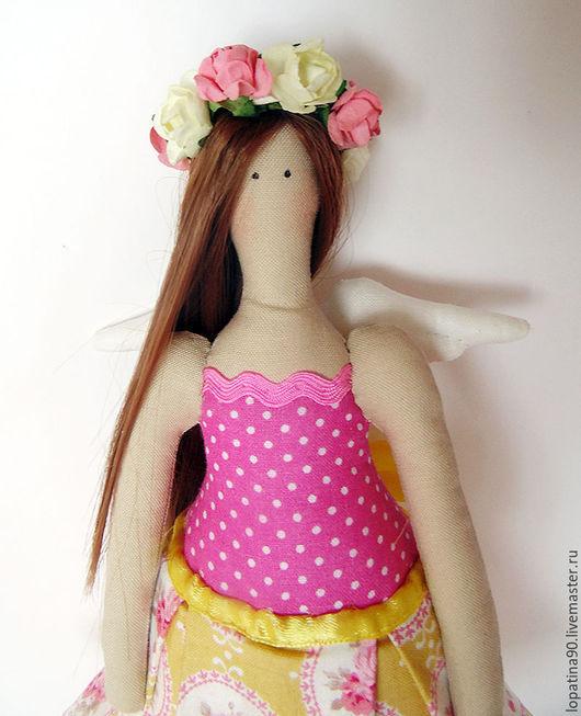 Куклы Тильды ручной работы. Ярмарка Мастеров - ручная работа. Купить Цветочный ангел. Handmade. Желтый, тильда ангел