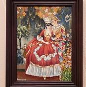 Картины и панно ручной работы. Ярмарка Мастеров - ручная работа арлекин и дама. Handmade.