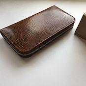 Клатчи ручной работы. Ярмарка Мастеров - ручная работа Зиппер,мужской кошелёк на молнии. Handmade.