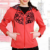 Одежда handmade. Livemaster - original item Women`s Fitted Sweatshirt London, Hoodie. Handmade.